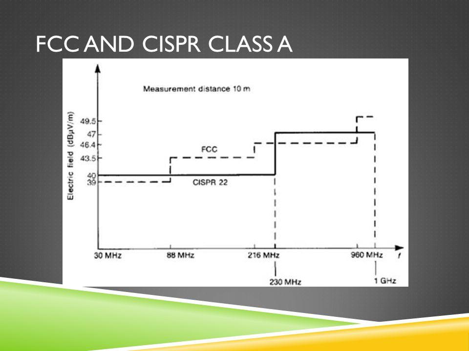 FCC and CISPR Class A