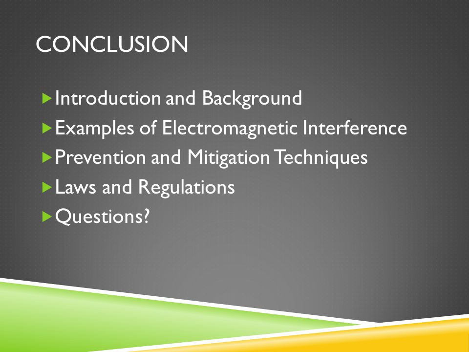 Conclusion Introduction and Background