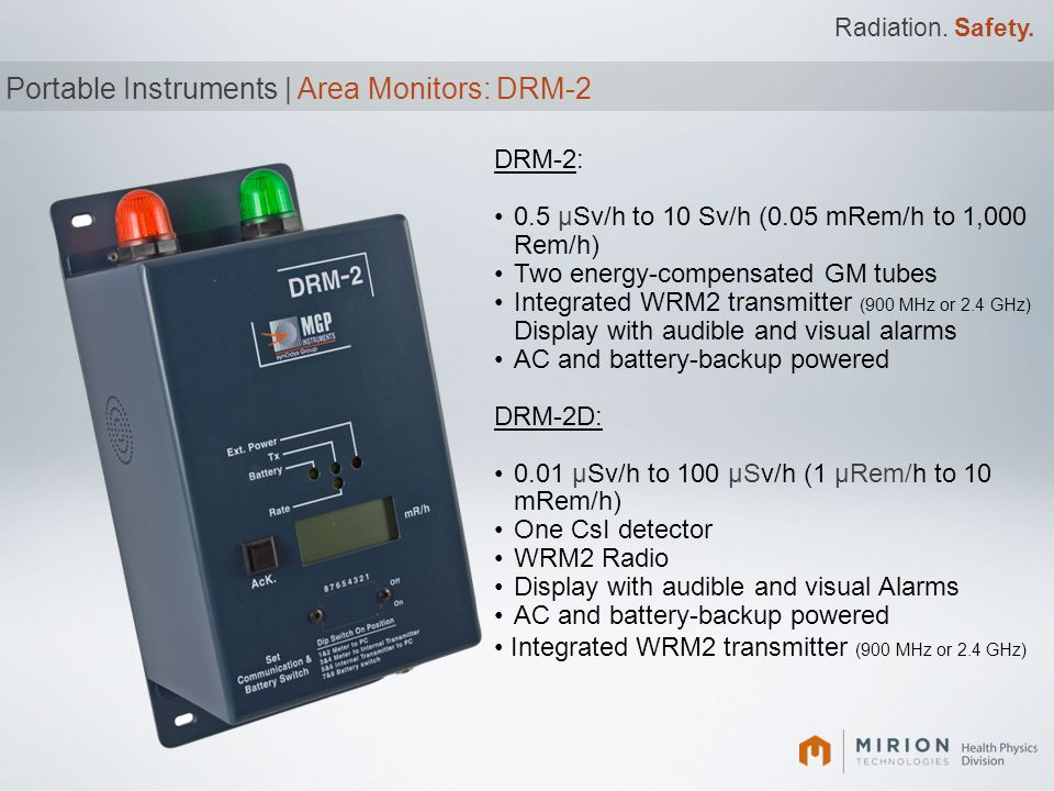 Portable Instruments | Area Monitors: DRM-2
