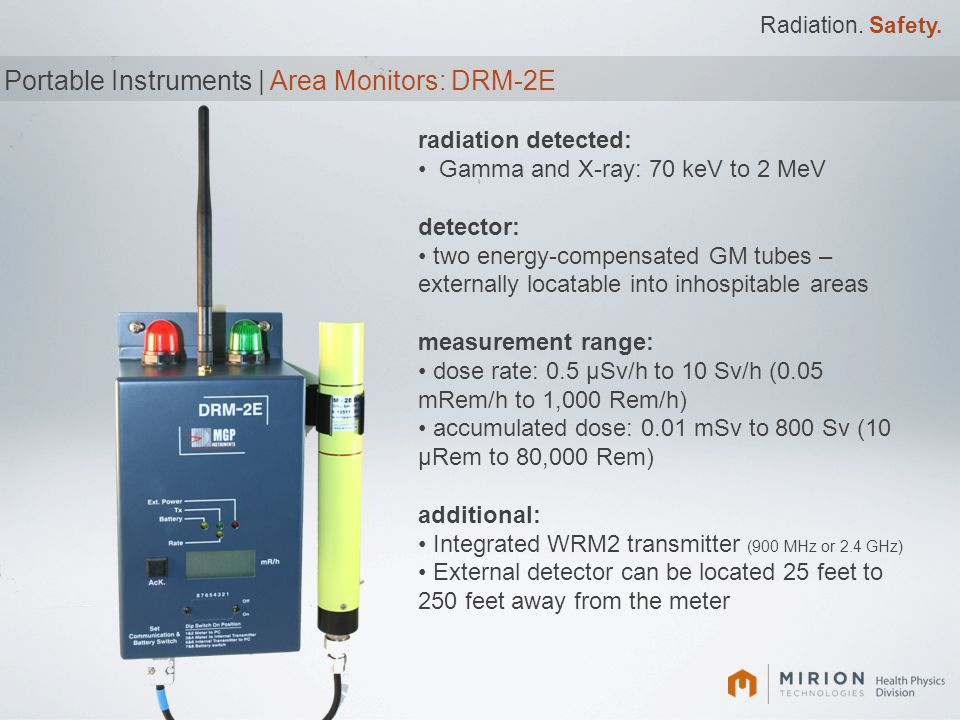 Portable Instruments | Area Monitors: DRM-2E