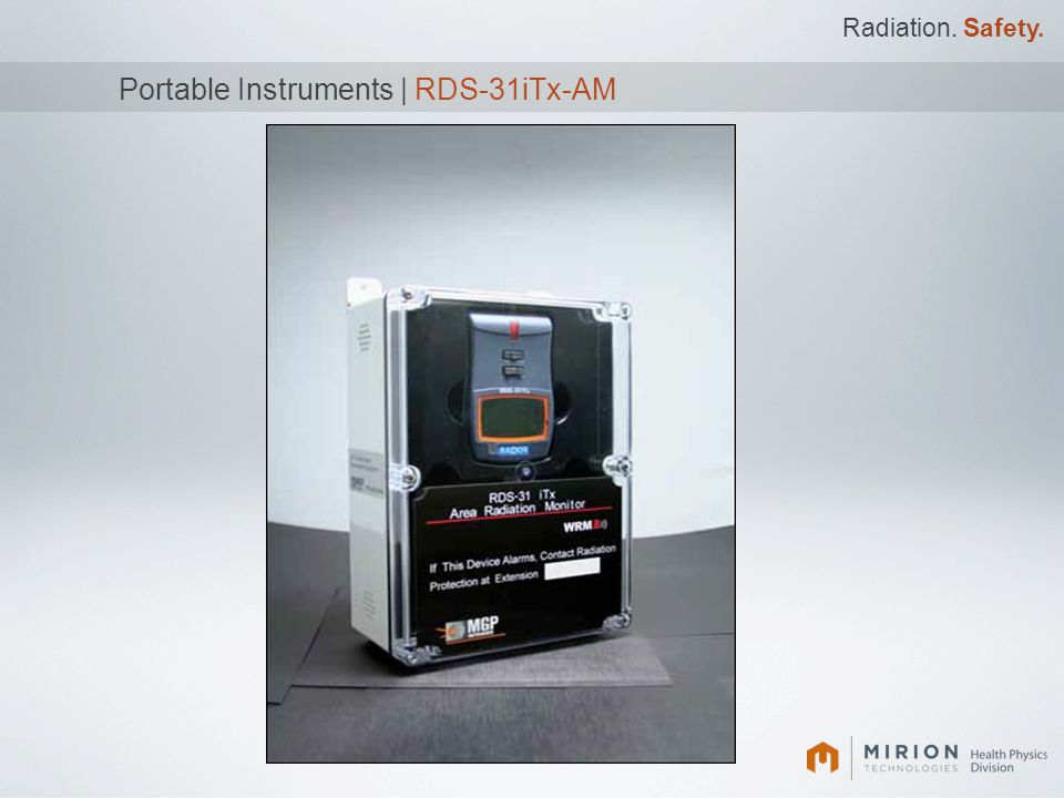 Portable Instruments | RDS-31iTx-AM