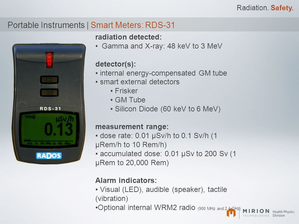 Portable Instruments | Smart Meters: RDS-31