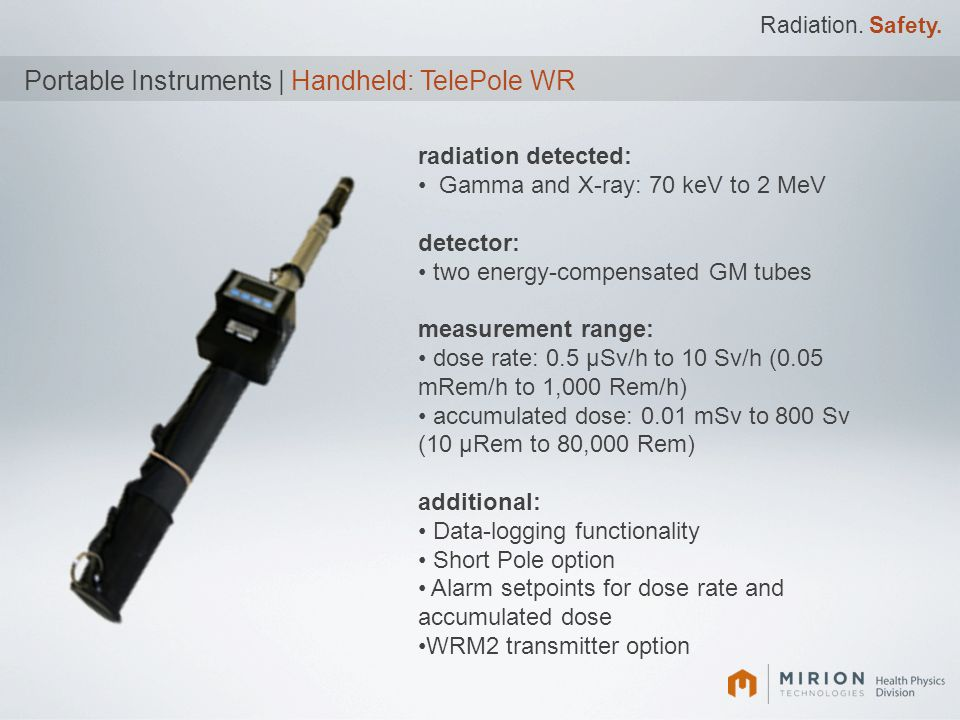 Portable Instruments | Handheld: TelePole WR
