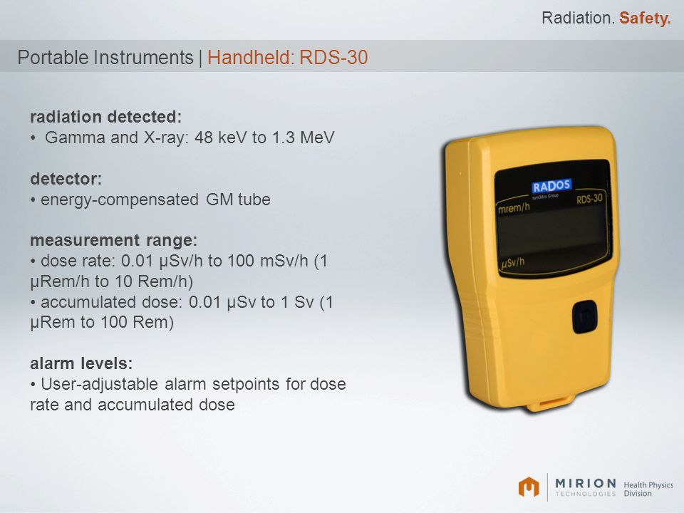Portable Instruments | Handheld: RDS-30