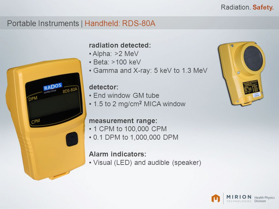 Portable Instruments | Handheld: RDS-80A