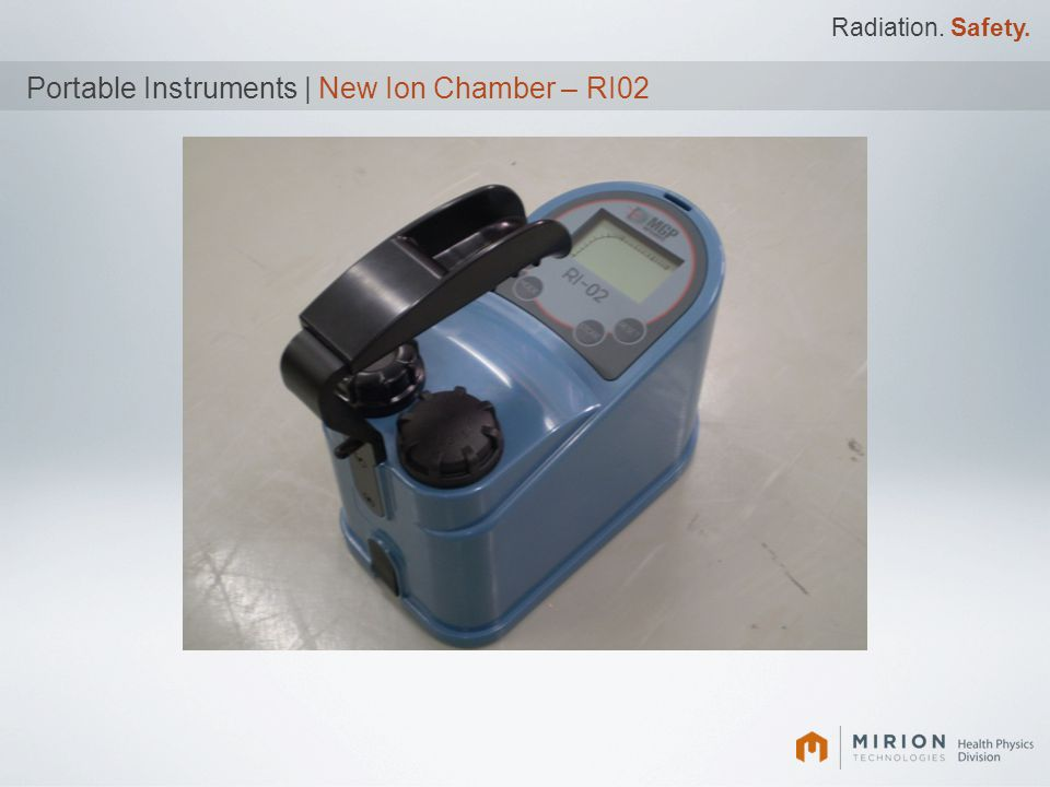 Portable Instruments | New Ion Chamber – RI02