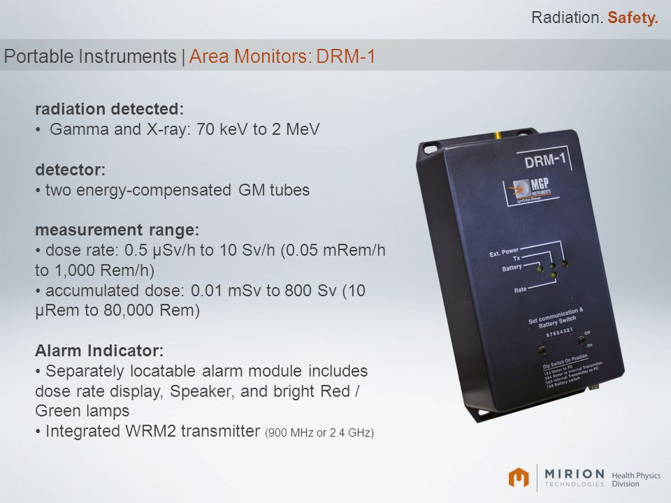 Portable Instruments | Area Monitors: DRM-1