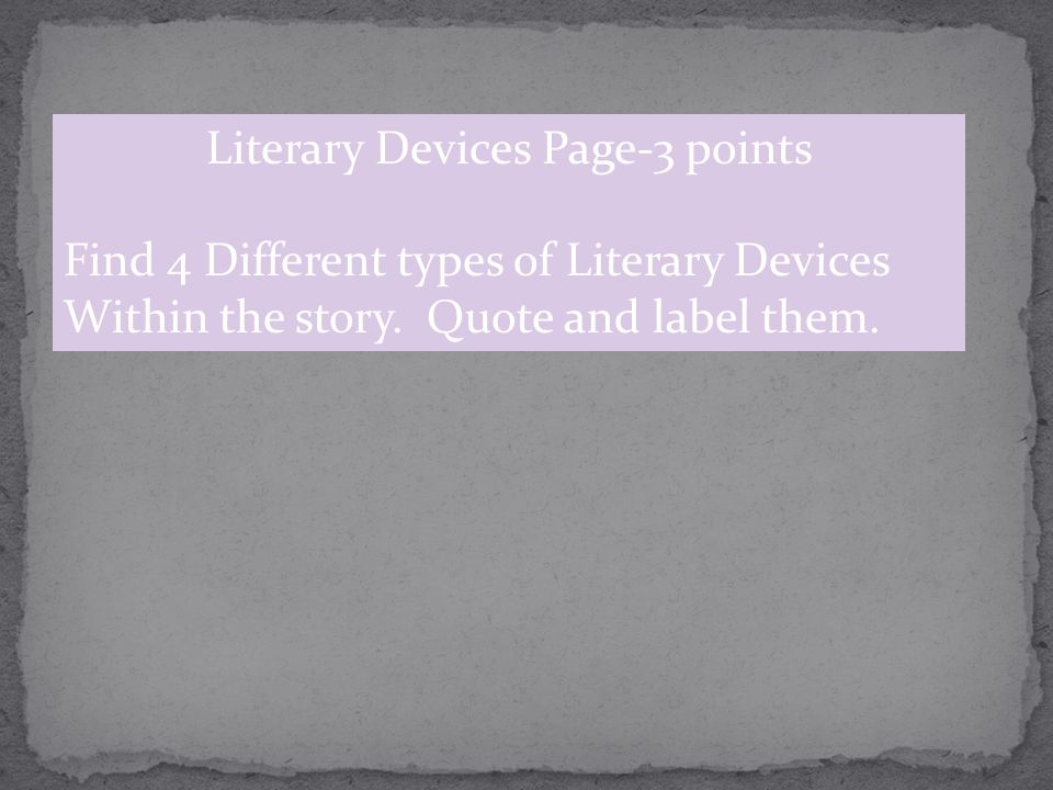 Literary Devices Page-3 points