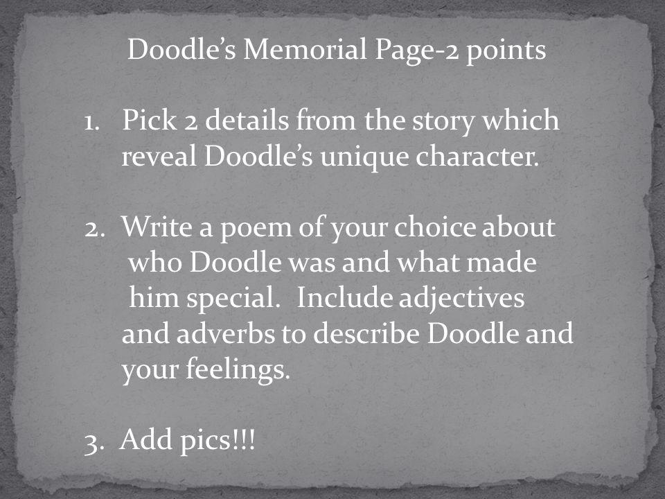 Doodle's Memorial Page-2 points