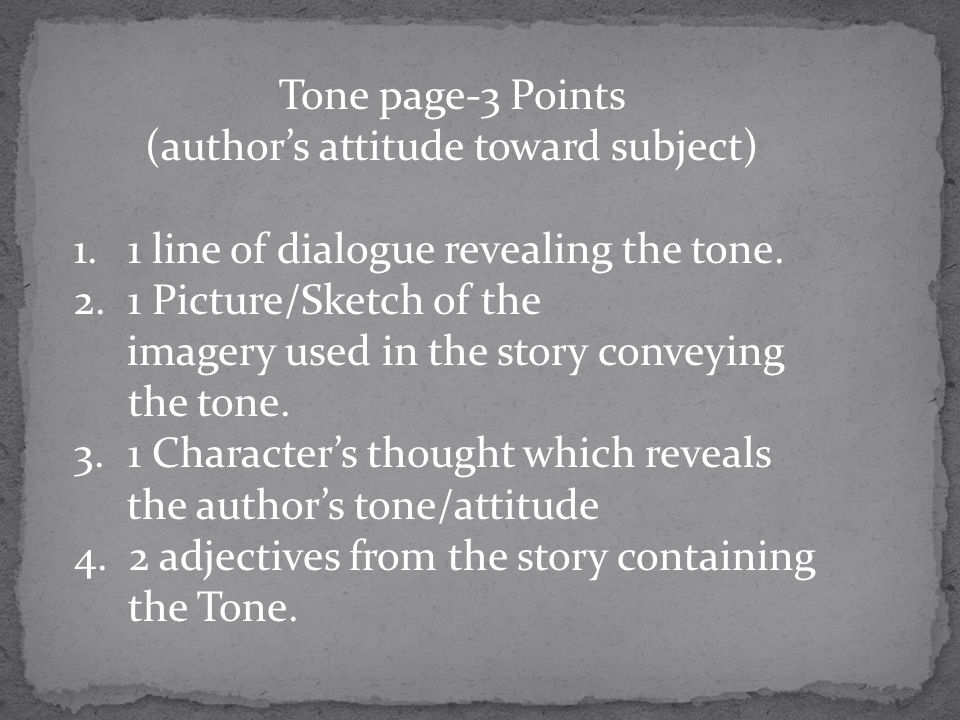 (author's attitude toward subject)