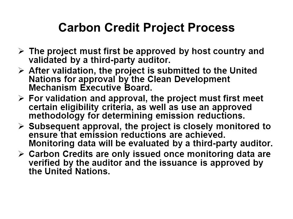 Carbon Credit Project Process
