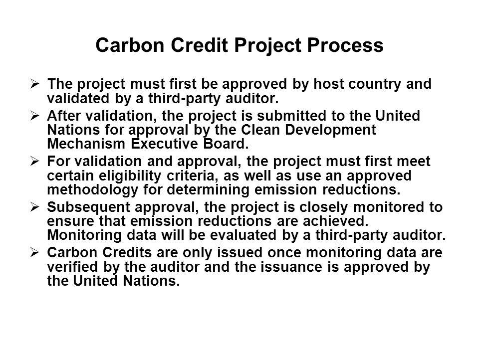 Carbon Credit Project Process