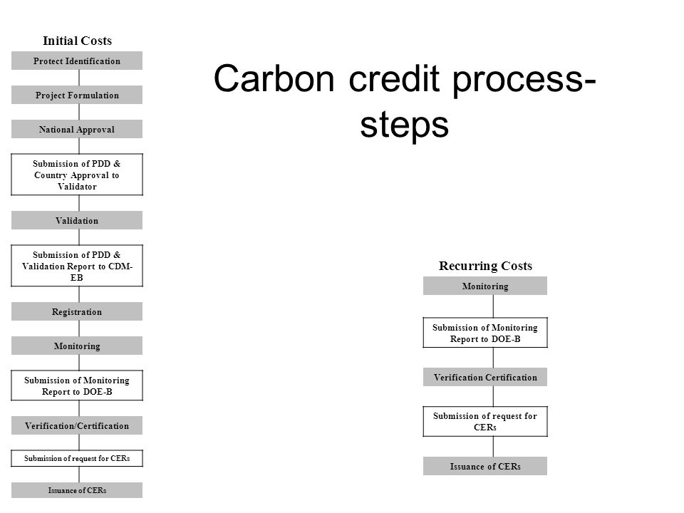 Carbon credit process- steps