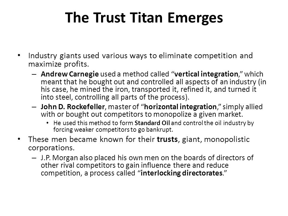 The Trust Titan Emerges
