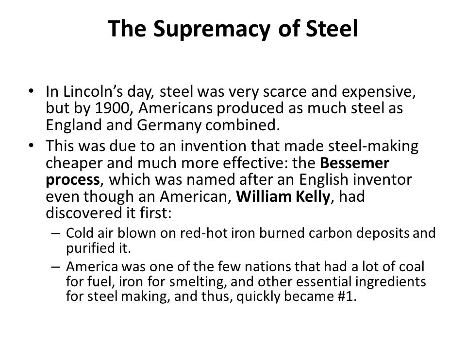 The Supremacy of Steel