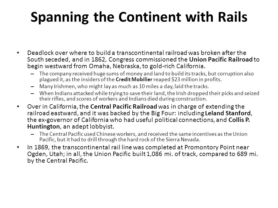 Spanning the Continent with Rails