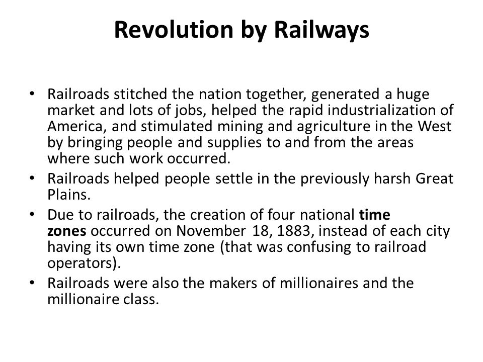 Revolution by Railways
