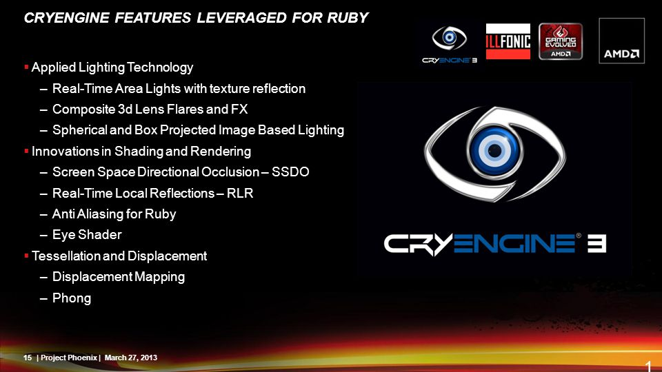 CryENGINE Features Leveraged for ruby
