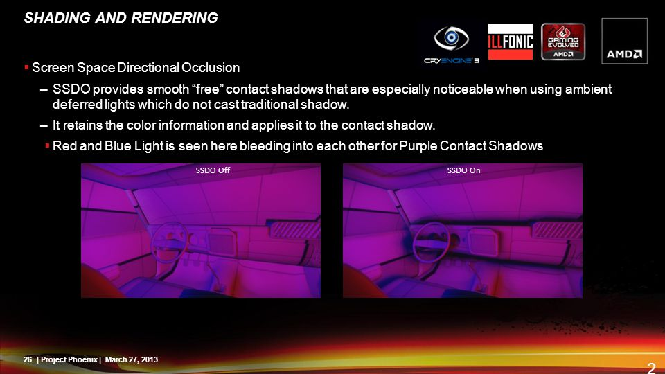 SHADING AND RENDERING Screen Space Directional Occlusion
