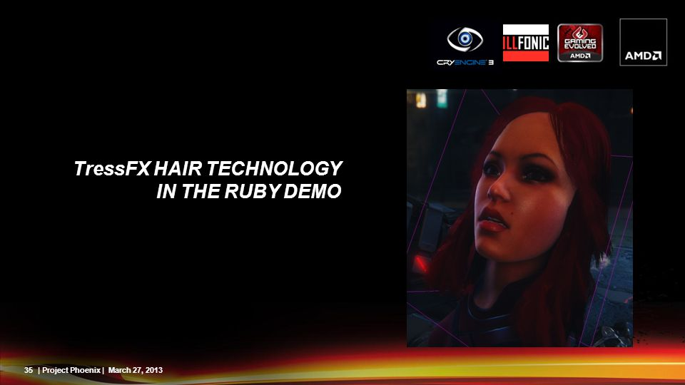 TressFX Hair Technology in the Ruby Demo