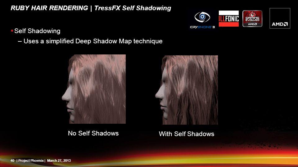 Ruby Hair Rendering | TressFX Self Shadowing