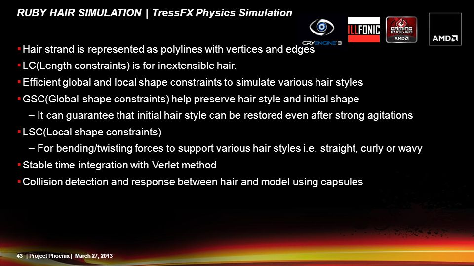 Ruby Hair Simulation | TressFX Physics Simulation