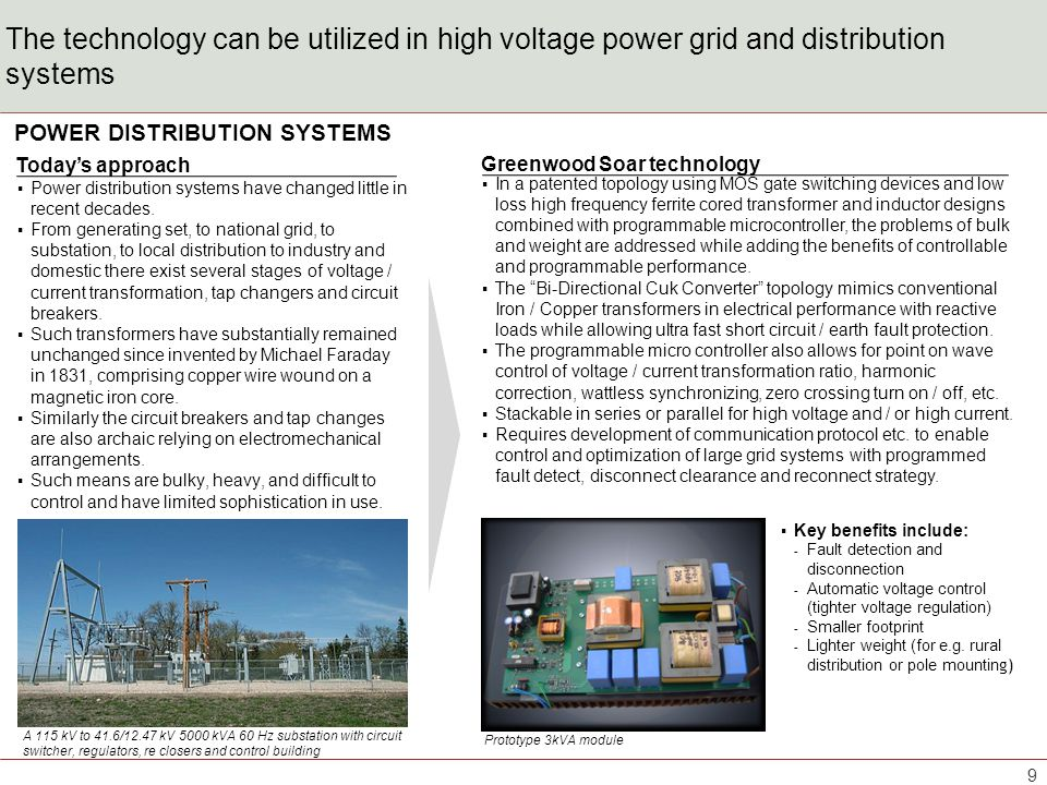 The technology provides many benefits for high voltage grid and distribution systems