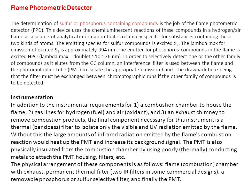 Flame Photometric Detector