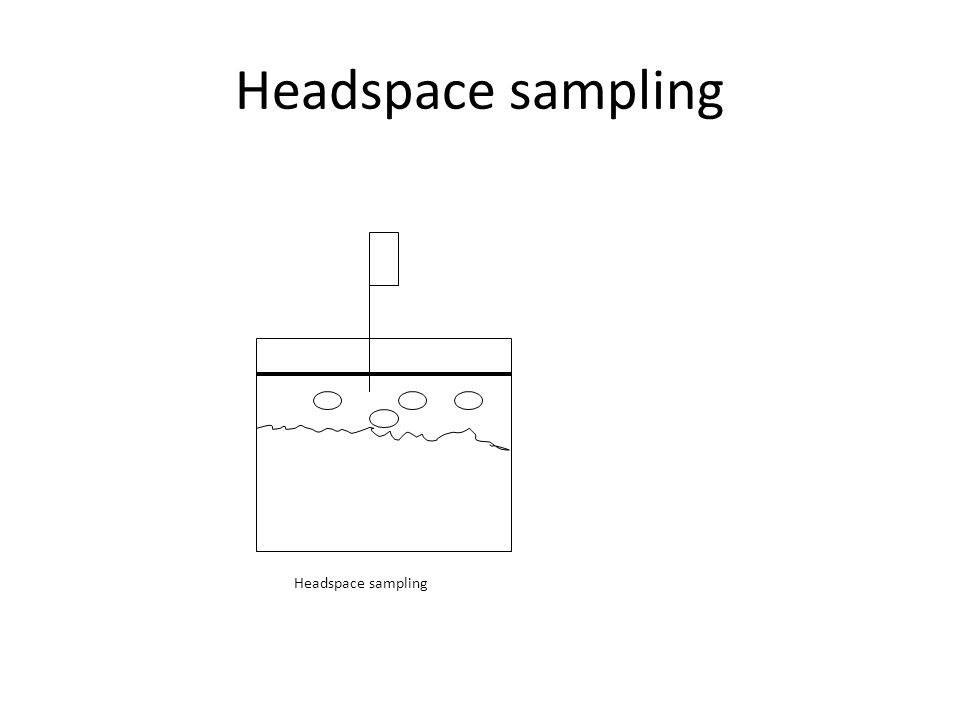 Headspace sampling Headspace sampling