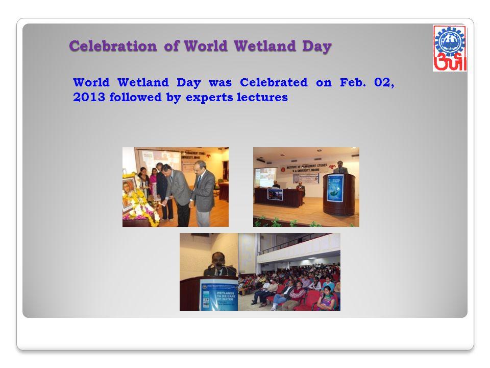 Celebration of World Wetland Day