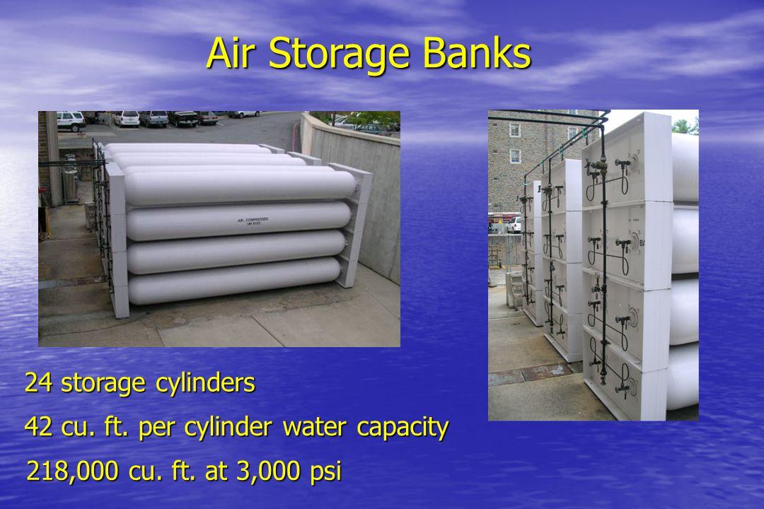 Air Storage Banks 24 storage cylinders