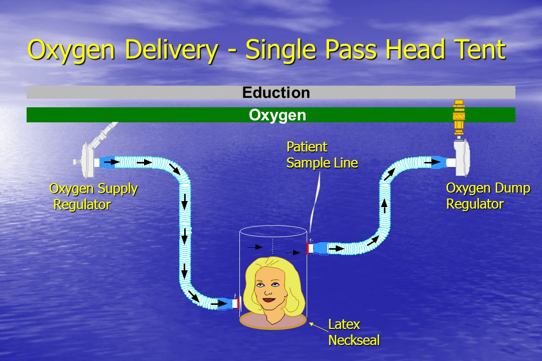 Oxygen Delivery - Single Pass Head Tent