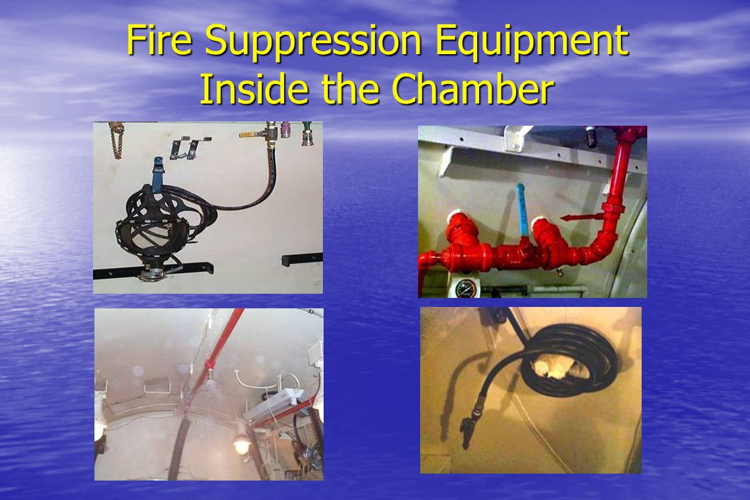 Fire Suppression Equipment Inside the Chamber