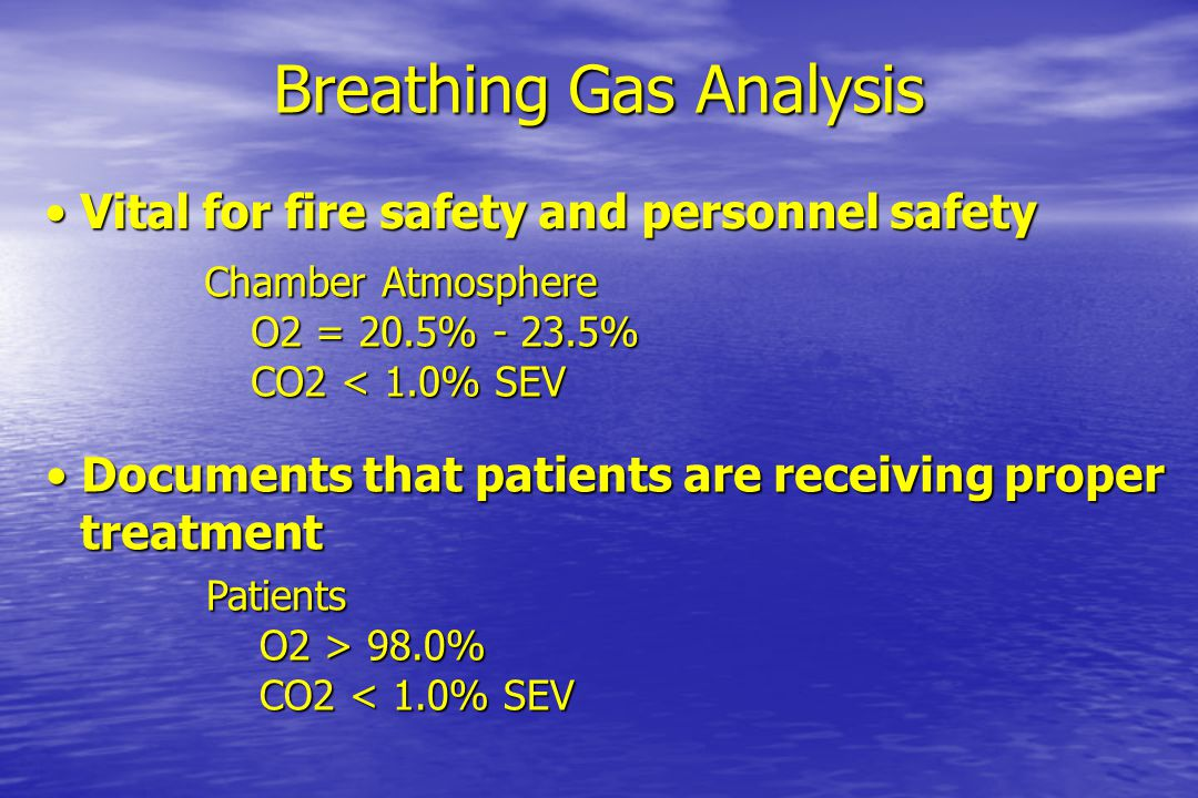 Breathing Gas Analysis