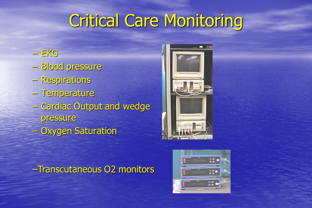 Critical Care Monitoring