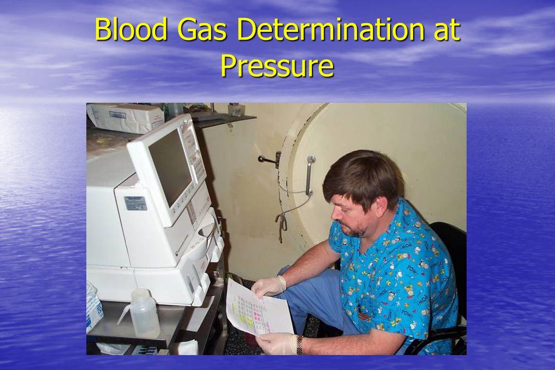 Blood Gas Determination at Pressure