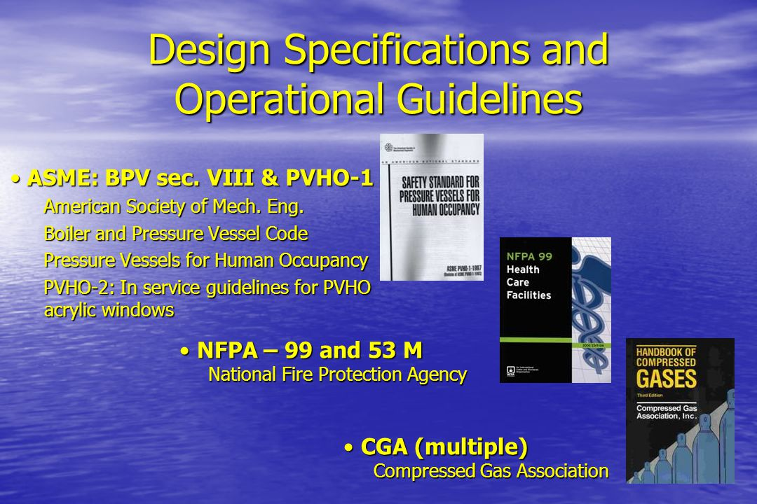 Design Specifications and Operational Guidelines