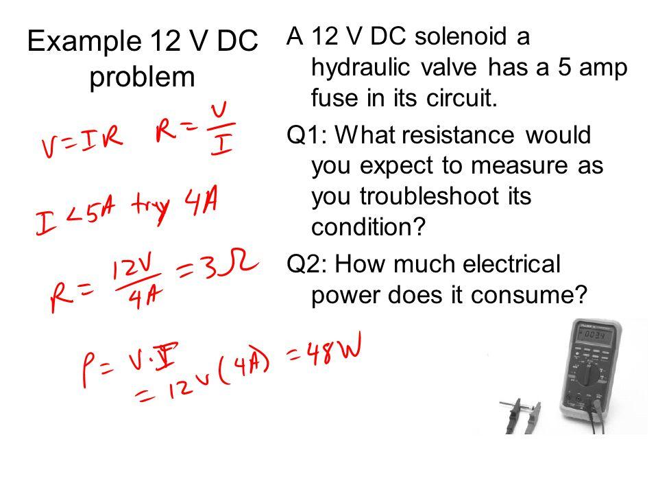 Example 12 V DC problem