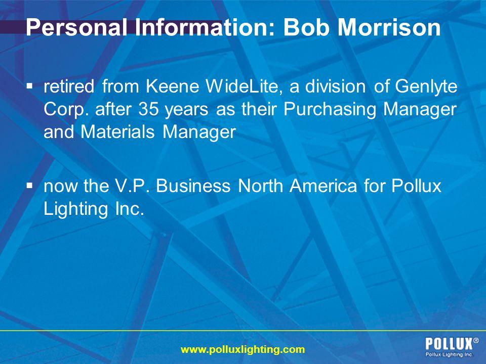 Personal Information: Bob Morrison