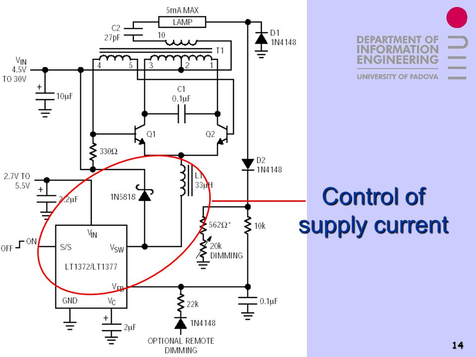 Control of supply current