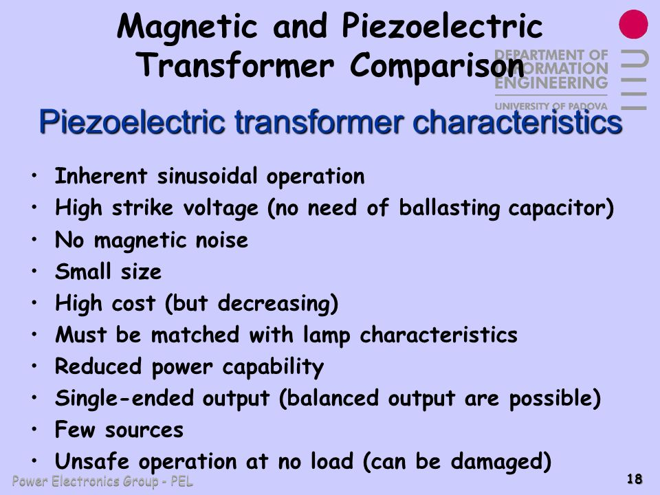 Magnetic and Piezoelectric Transformer Comparison