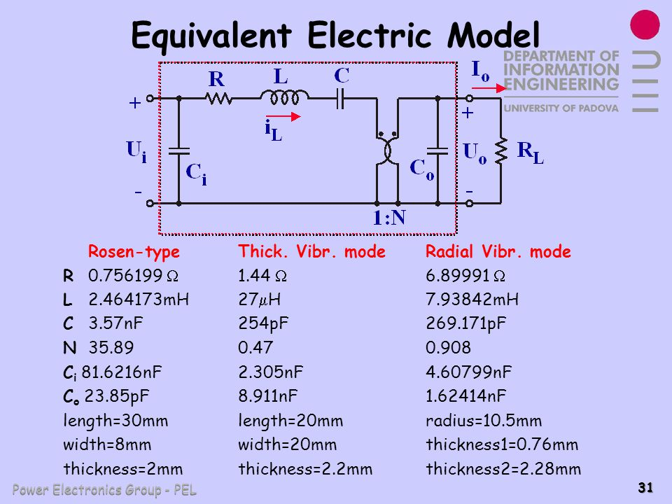 Equivalent Electric Model
