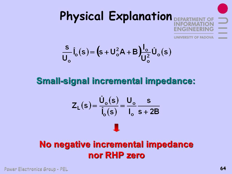 Small-signal incremental impedance:
