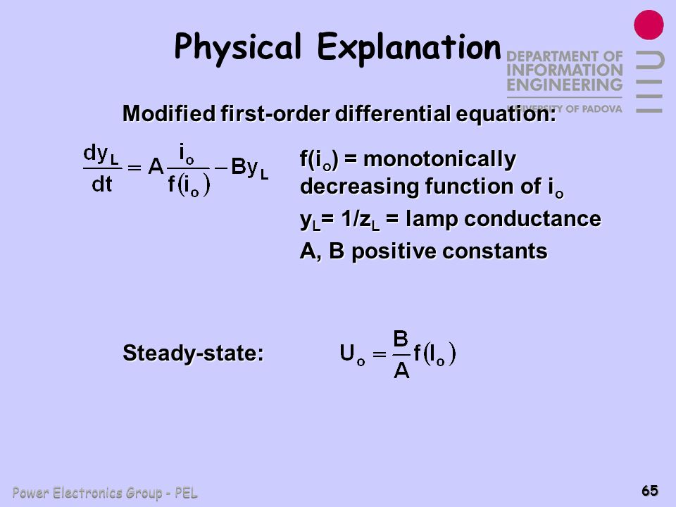 Modified first-order differential equation: