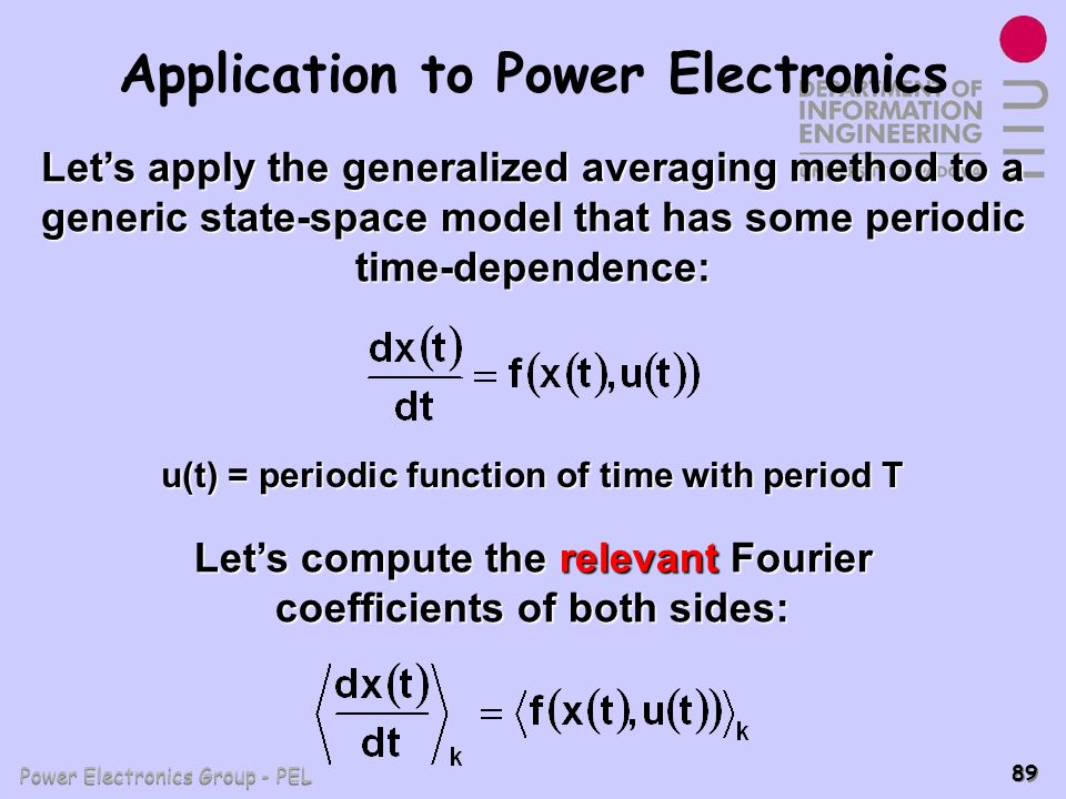 Application to Power Electronics