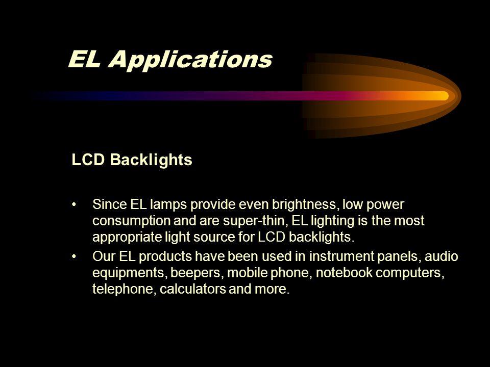 EL Applications LCD Backlights