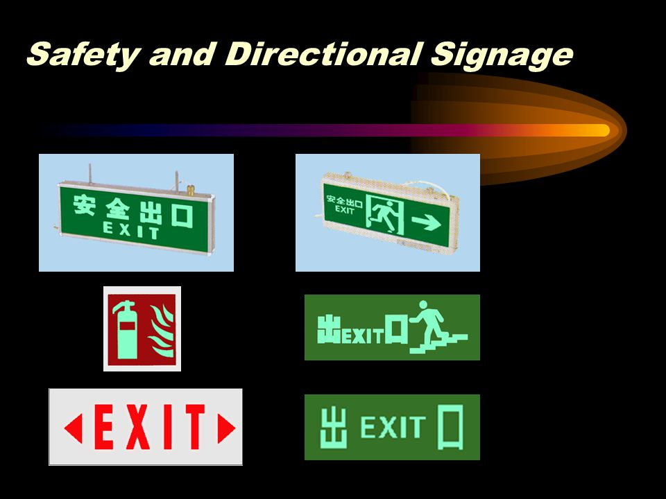 Safety and Directional Signage