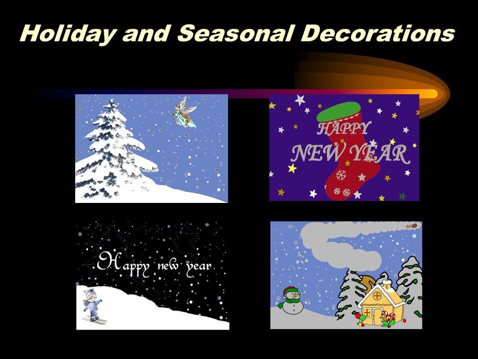 Holiday and Seasonal Decorations