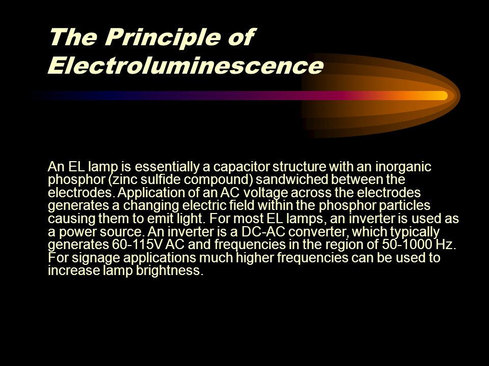 The Principle of Electroluminescence