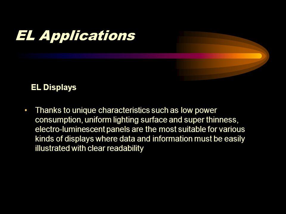 EL Applications EL Displays